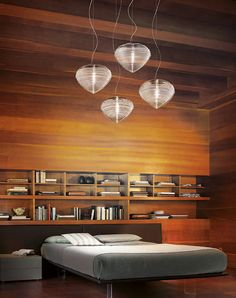 Pendant lamp / contemporary / crystal / blown glass SPIRIT by Marco Acerbis Vetreria Vistosi