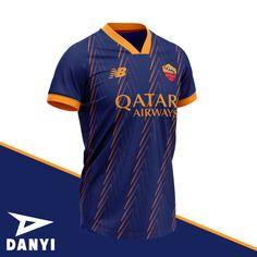 Soccer Jokes, Soccer Kits, Football Kits, Football Jerseys, Sports Uniforms, Sports Shirts, Sport Shirt Design, Jersey Outfit, As Roma