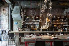 ABC Cocina NYC restaurants worth the splurge Restaurant New York, Restaurant Design, Restaurants In Nyc, Merci Boutique, Nyc Coffee Shop, Coffee Shops, Merci Paris, Café Bar, Dark Interiors