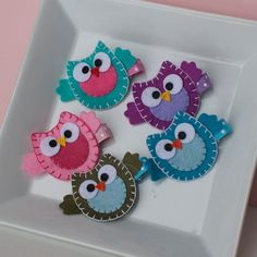 Owl Hair Clip Choose from a Rainbow of Colors by MyLittlePixies