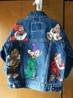 Hand painted Children's jean jacket by Lilduds on Etsy, $55.00