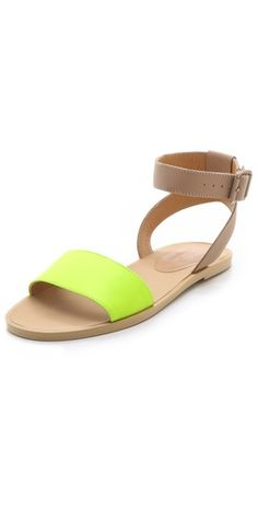 Nude and #Neon sandals