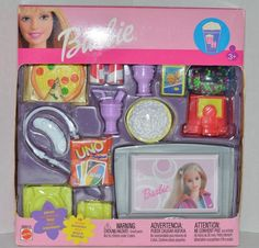 New RARE Fashion Avenue Barbie Doll Uno Accessories Playset 88815 Worldwide Barbie Doll Set, Doll Clothes Barbie, Barbie Doll House, Barbie Dream, Barbie And Ken, Barbie Stuff, Vintage Barbie, Vintage Toys, Barbie Furniture