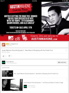 @Shawn Mendes  still can't believe you are going on tour with Austin!!! ilysm <3