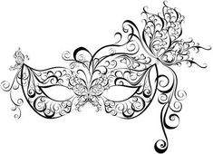 Illustration about Vector black openwork masquerade mask. Illustration of character, nobody, italian - 39330359 Venetian Mask Tattoo, Masquerade Mask Tattoo, White Masquerade Mask, Mascarade Mask, Zentangle, Mask Drawing, Venetian Carnival Masks, Lace Mask, Mask Template