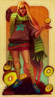 blonde kiwis by loish.deviantart.com on @deviantART