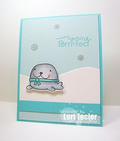 Card by SPARKS DT Lori Tecler PS stamp sets: Cool Dudes, Chilly Chums; PS dies: Backdrop Builders
