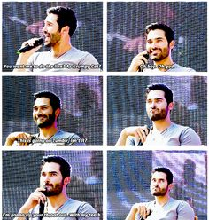 Tyler Hoechlin being grumpy cat