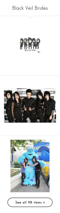 """""""Black Veil Brides"""" by poison-ivy12 ❤ liked on Polyvore featuring bvb, black veil brides, drawings, fillers, pictures, bvb pics, sammi doll, couples, bands and people"""