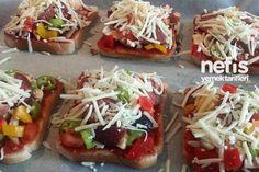 Pratik Şipşak Tost Pizzası 4 Turkish Recipes, Ethnic Recipes, Turkish Kitchen, Baked Potato, Pizza, Gluten Free, Mexican, Breakfast, Desserts