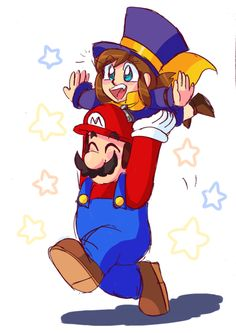 Hat Kid loves hanging out with her friend Time Tumblr, Super Mario Bros Games, Black Bucket Hat, A Hat In Time, Cute Kawaii Drawings, Cartoon Crossovers, Game Character Design, Outfits With Hats, Funny Games