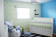 Project Nursery - Lime Green and Blue Nursery