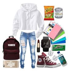 """""""back too school #2"""" by veeegirl ❤ liked on Polyvore featuring Old Navy, ASAP, Converse, Mimco, 1:Face, Woouf! and Casetify"""