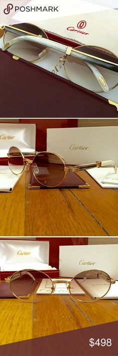 48039cb95e5f5 🔥SALE🔥Gold Natural Horn Vintage Cartier Glasses! Vintage Natural Horn  Cartier 👉 Unisex