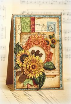 Amazing French Country Card by Romy Veul #graphic45 #cards