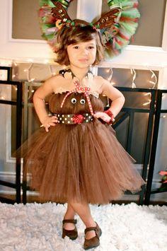 Girls Rudolph the Red Nosed Reindeer Inspired Tutu Dress Halloween Costume (Newborn - Costume Halloween, Rudolph Costume, Xmas Costumes, Couple Halloween, Diy Dress, Tulle Dress, Fancy Dress, Dress Up, Princess Tutu Dresses