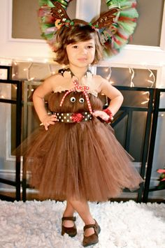 Rudolph the Red Nose Reindeer Tutu Dress Pageant by BlissyCouture, $60.00