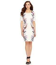 Antonio Melani Disy Printed Scuba Dress Fashion Scuba