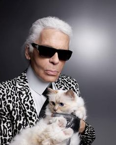 Karl Lagerfeld and Choupette Lagerfeld for Madame Figaro France January 2016 #SelfPortrait