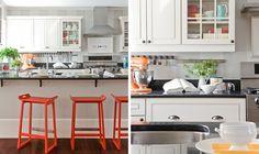 Pops of colour white kitchen