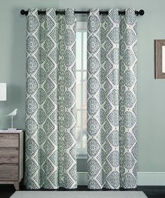 Another great find on #zulily! Gray Judy Foam-Back Faux Silk Curtain Panel - Set of Two #zulilyfinds