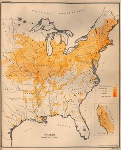 Wealth in the United States, 1872 #map #usa #economy