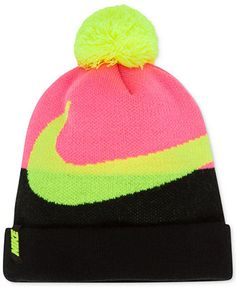 Nike Girls  or Little Girls  Swoosh Pom-Pom Beanie Kids - Macy s f7d6655ab7f3