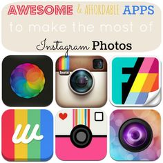Awesome and Affordable Apps to Use with Instagram - make the most of your photos!