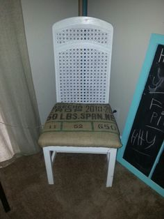 """Burlap redo"" so doing this when I repaint my kitchen table and chairs"