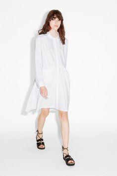 NEW!Ruched waist shirt dress