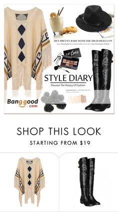 """Banggood"" by janee-oss ❤ liked on Polyvore featuring Bobbi Brown Cosmetics, women's clothing, women, female, woman, misses and juniors"