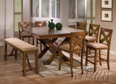 Appollo 9 Pc Counter Height Table Set By Acme By Acme Furniture. $1649.99.