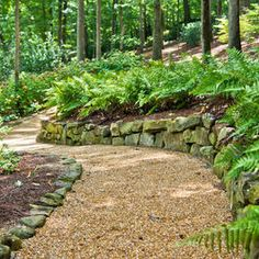 through backyard forest area . path through backyard forest area path through backyard forest area Miniature Garden, Landscaping Atlanta, Backyard Landscaping, Landscape Design, Gravel Landscaping, Garden Walkway, Garden Design, Cottage Garden, Garden