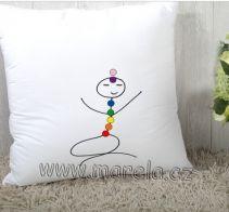 Marela - Polštářek Medituji:) | Originální těhotenská móda Chakras, Snoopy, Fictional Characters, Chakra, Fantasy Characters