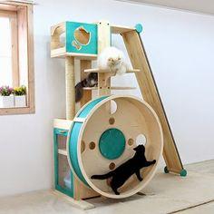 Cool Cat Tree Plans: A Cat Tree Hamster Wheel?