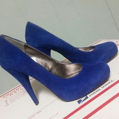 Stunning Cobalt Blue Suede Steve Madden Pumps 7 How gorgeous are these?? Authentic, Trinitie by SM  Cobalt blue suede, size 7 (true to size) worn 1x indoors.   Smoke free, pet friendly home. No trades please. Reasonable offers considered. Steve Madden Shoes Heels