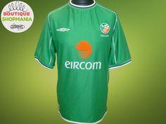 REPUBLIC of IRELAND FAI HOME 2001-2003 (L) UMBRO FOOTBALL SHIRT Jersey Camisa #Umbro #REPUBLICofIRELAND