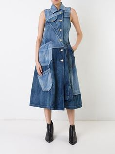 Miharayasuhiro panelled denim dress