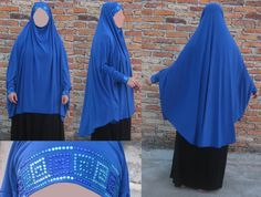Items similar to Lycra Khimar with Sleeves with or w/o Rhinestones on Etsy Hijabs, Design Show, Tie Backs, Different Colors, Rhinestones, Ties, One Piece, Decorations, Trending Outfits