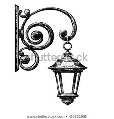 Sketch of street light , street post Simple Wall Paintings, Easy Paintings, Art Drawings Sketches, Easy Drawings, Chandelier Art, Wall Painting Decor, House Drawing, Hippie Art, Environment Concept Art