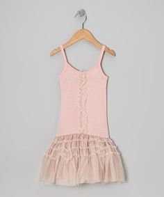 Take a look at this Dusty Pink Tulle Drop-Waist Dress - Infant by Bye Bye Birdie on #zulily today!