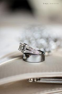 split shank wedding ring with accent diamonds on the side...the wedding rings photo.