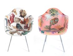 """These were posted as something to buy but I say get some plastic chairs at a garage sale and decoupage them-you would have your very own """"designer"""" (meaning falsely expensive) chairs. Don't go for it-be your OWN designer!!"""