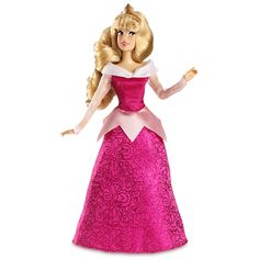 "Nobody looks prettier in pink than Aurora...unless she's in blue! SLEEPING BEAUTY CLASSIC POSEABLE 12-INCH DOLL (from Walt Disney's ""Sleeping Beauty"")"