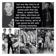 This made me cry:( I never want you guys to leave @Shawn Mendes @Taylor Caniff @Matthew Espinosa @Cameron Dallas @Nash Grier @Aaron Carpenter @Jack Gilinsky Ill go back to crying now