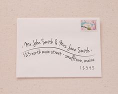 Hand Lettered Wave Recipient Address Printable Envelope Template-Printable Envelope Address-from-Swisstopher Robin - 1