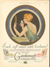 *1923 GAINSBOROUGH POWDER PUFF PAD BOX COLES PHILLIPS VANITY BEAUTY ARTIST ART