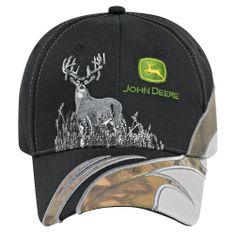 0cf7beaff4c John Deere Black Gray Camo Cap John Deere Hats
