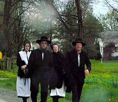 ✿⊱╮Amish walking to church.