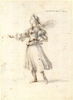 Stefano della Bella, Costume study for a sylph, 1625-1664 London, British Museum, Inv. No. 1887,0502.44